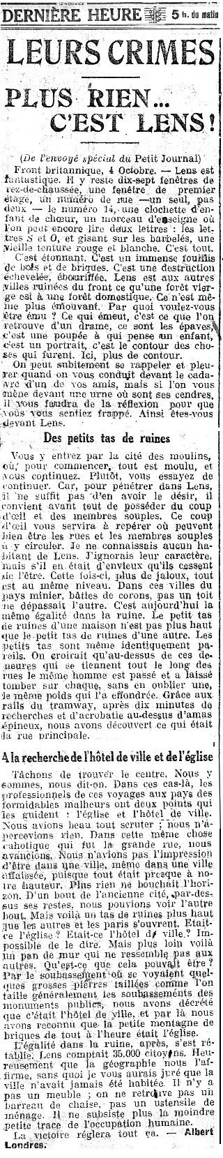 1lens 04 10 1918 londres